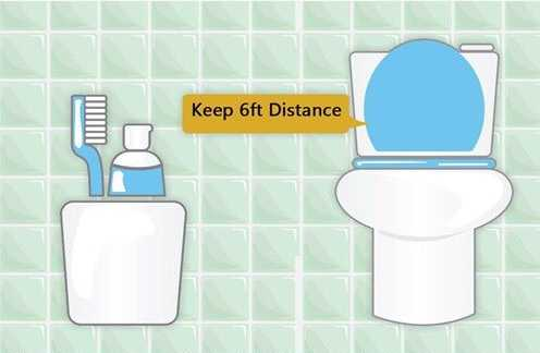 do not keep toothbrush near toilet
