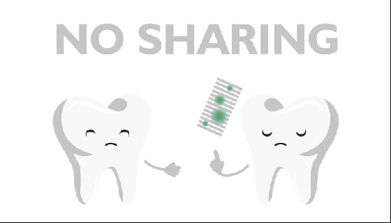 no sharing of toothbrush