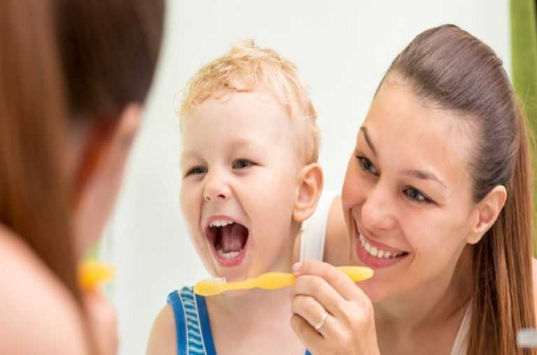 baby-and-parent-brushing