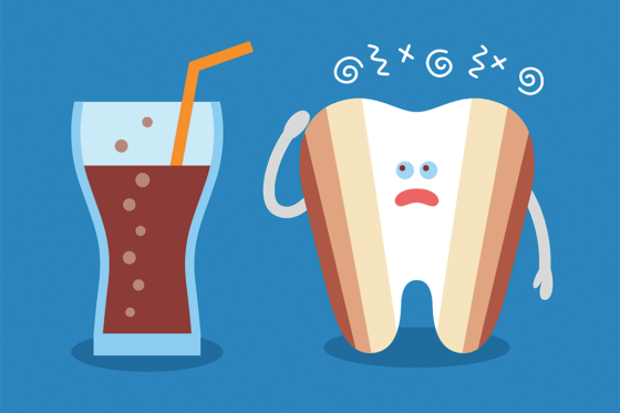 beverages causes yellow teeth