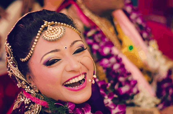 Wedding bride smile