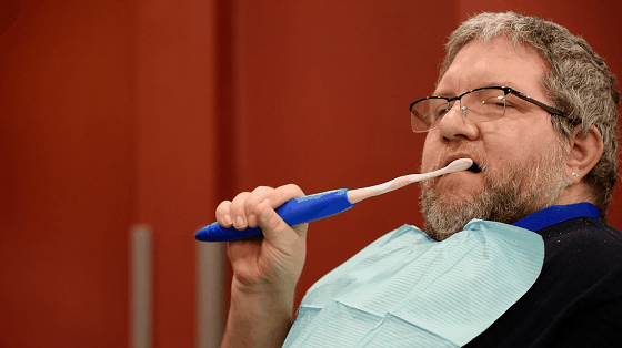 handgrip toothbrush for special needs