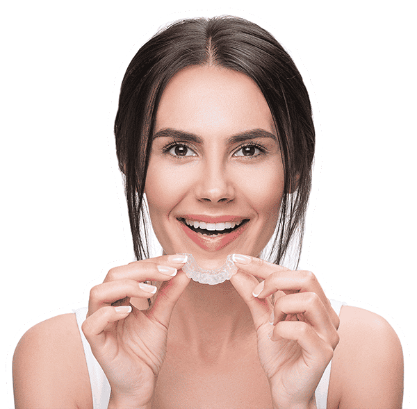 Woman holding SDalign Aligners